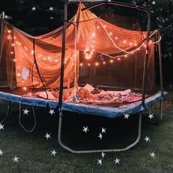 image of trampoline solar lights